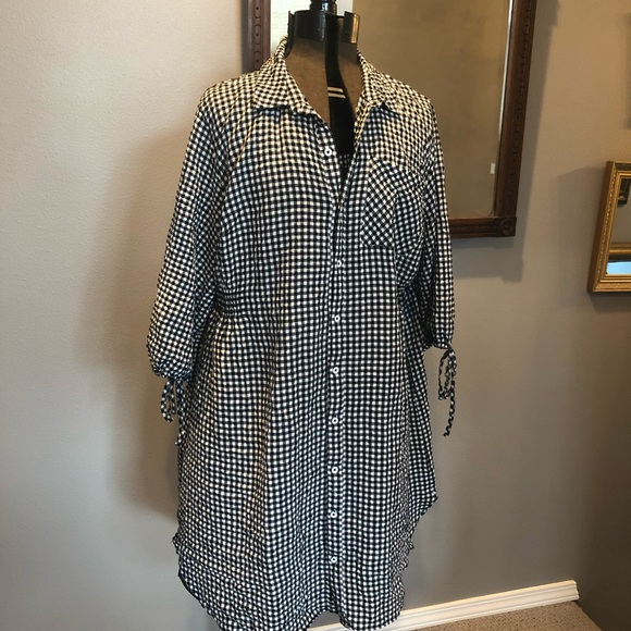 0eb38713f4f Ava   Viv Dresses   Skirts - AVA   VIV Gingham Shirt Dress